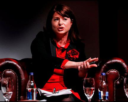 Emily Logan, Chief Commissioner of the Irish Human Rights and Equality Commission, speaking at the Safe Ireland Summit 2016 at the Mansion House in Dublin. Photo: Steve Humphreys