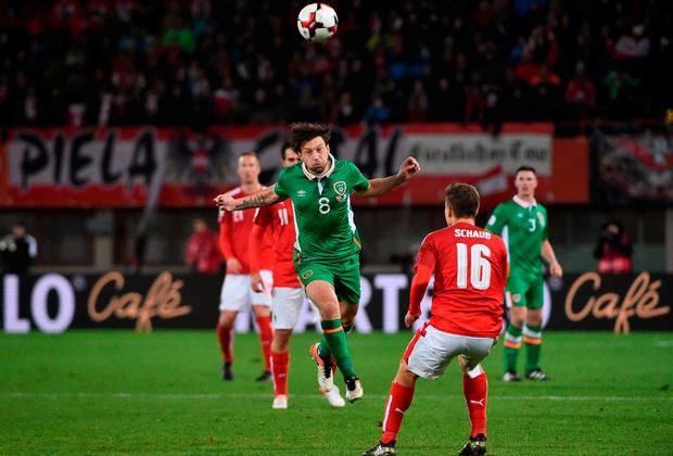 Harry Arter in action for the Republic in Vienna. Photo by David Maher/Sportsfile