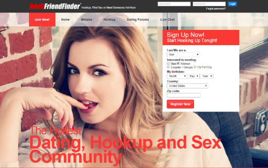 Thousands of Irish people are expected to have had their private information exposed in a cyber-attack on meet-up website AdultFriendFinder.com. Credit: Adult Friend Finder