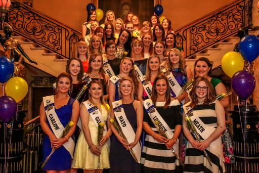 Macra Queen of the Land contestants at a recent event in Tullamore. Photo: Paul Moore