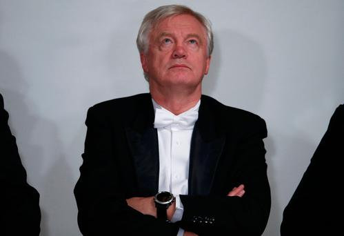 David Davies minister for Brexit listens to a speech at the Lord Mayor's Banquet, at the Guildhall, London. Photo: Reuters