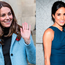 Kate Middleton, left, and Meghan Markle, right