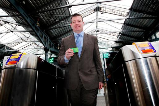 While working as junior minister in the Department of Transport in 2012, Mr Kelly appeared in the local papers on several occasions fighting off rumours that Irish Rail would reduce the underused service. Photo: Maxwell Photography
