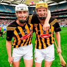 Liam Blanchfield and Sean Morrissey celebrate Kilkenny minor's victory over Waterford in the 2014 All-Ireland semi-final – both are likely to be part of Brian Cody's restructing plans next year. Photo: Ray McManus / SPORTSFILE