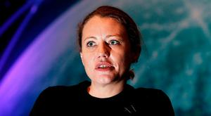 Wikileaks journalist Sarah Harrison at the Info Sec Conference in the RDS. Photo: Steve Humphreys