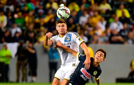 Steven Gerrard in action for LA Galaxy.