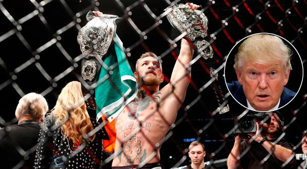 Conor McGregor and US president-elect Donald Trump