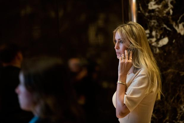 NEW YORK, NY - NOVEMBER 11: Ivanka Trump walks through the lobby of Trump Tower, November 11, 2016 in New York City. On Friday morning, Trump tweeted that he 'has a busy day in New York' and 'will soon be making some very important decisions on the people who will be running our government.' (Photo by Drew Angerer/Getty Images)