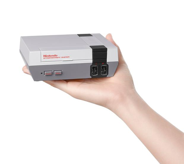 The tiny Nintendo Classic Mini console