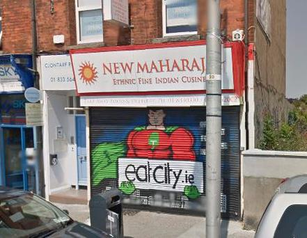 The New Maharajah Restaurant on Clontarf Road Credit: Google Maps