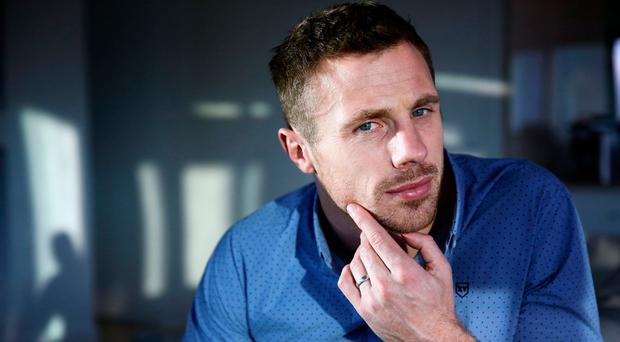 Tommy Bowe wearing a shirt from his 'XV Kings' clothing range. Photo: Gerry Mooney