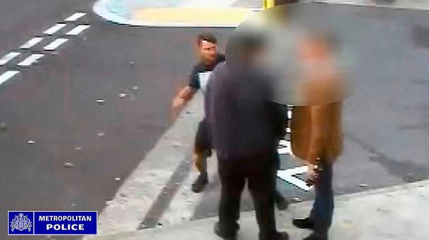 A man's jaw was fractured with a single punch during a parking dispute in Bexleyheath, south east London Credit: Metropolitan Police/PA Wire
