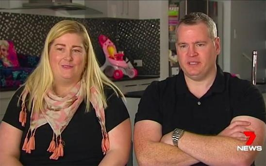 Peter and Kate Hill were struggling to conceive CREDIT: 7 NEWS