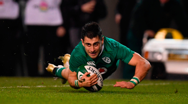 Tiernan O'Halloran showed what he could do in an Ireland jersey against Canada. Photo: Sportsfile