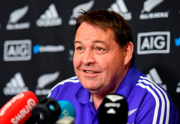 New Zealand head coach Steve Hansen. Photo by Stephen McCarthy/Sportsfile