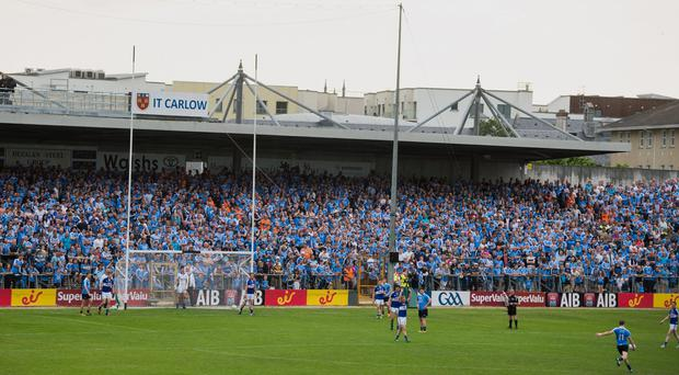 Laois who were unhappy they weren't permitted to face the Dubs at their home venue last summer and instead travelled to Kilkenny's Nowlan Park. Photo by Ray McManus/Sportsfile
