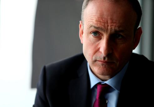 Micheál Martin has called out Enda Kenny's party on the proposal now, saying the USC plans are 'not in the land of reality'. Photo: Gerry Mooney