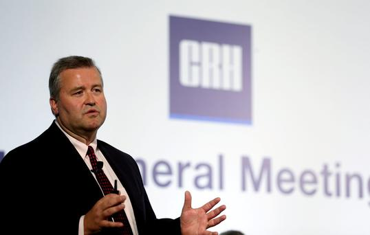 Albert Manifold chief executive of CRH which says US growth will be more modest in Q3