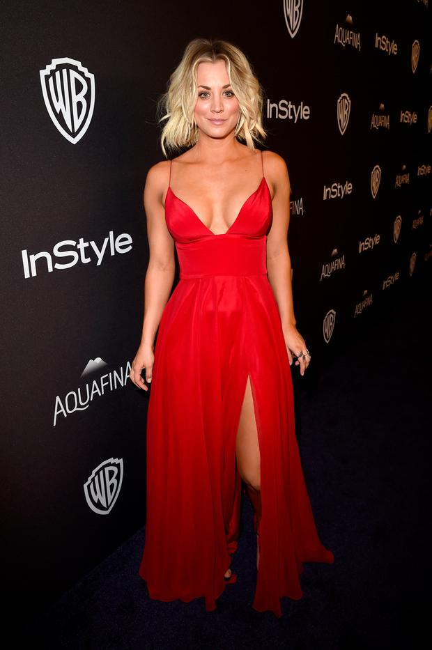 Actress Kaley Cuoco attends The 2016 InStyle And Warner Bros. 73rd Annual Golden Globe Awards Post-Party at The Beverly Hilton Hotel on January 10, 2016 in Beverly Hills, California. (Photo by Jason Merritt/Getty Images for InStyle)