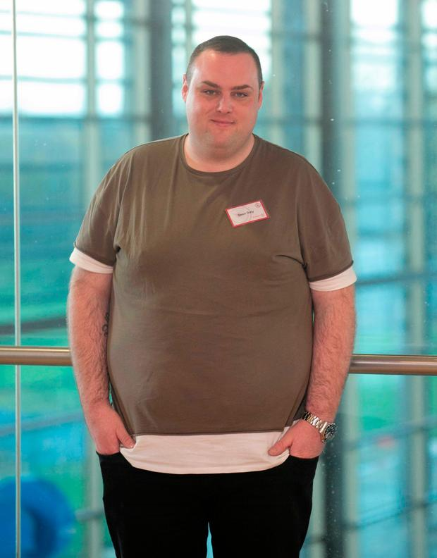 Participant Sean Daly during the launch of Operation Transformation Photo: Gareth Chaney Collins