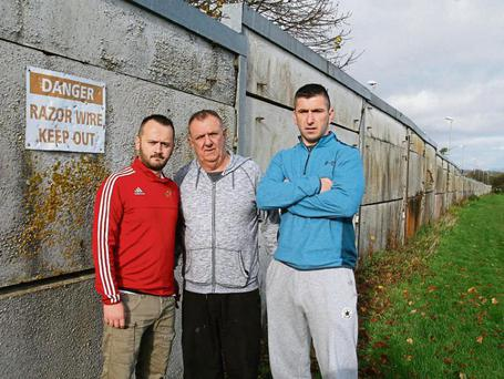 Moyross locals (L-R) Dean Quinn, Tommy and Jamie Daly