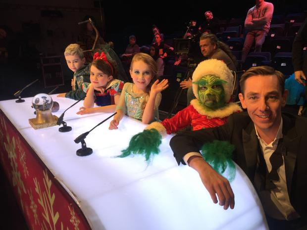 Ryan Tubridy does his best to impress a panel of mini-judges in the Toy Show teaser clip