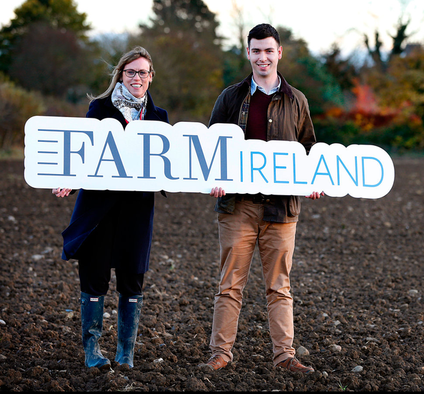 Margaret Donnely, Editor of FarmIreland.ie, pictured alongside FarmIreland.ie journalist Ciarán Moran at the launch of the FarmIreland.ie website Photo: Steve Humphreys