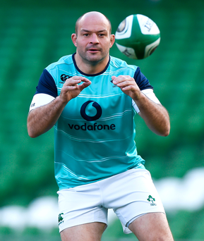 Rory Best leads his Ireland team into battle against the All Blacks today Picture: Sportsfile