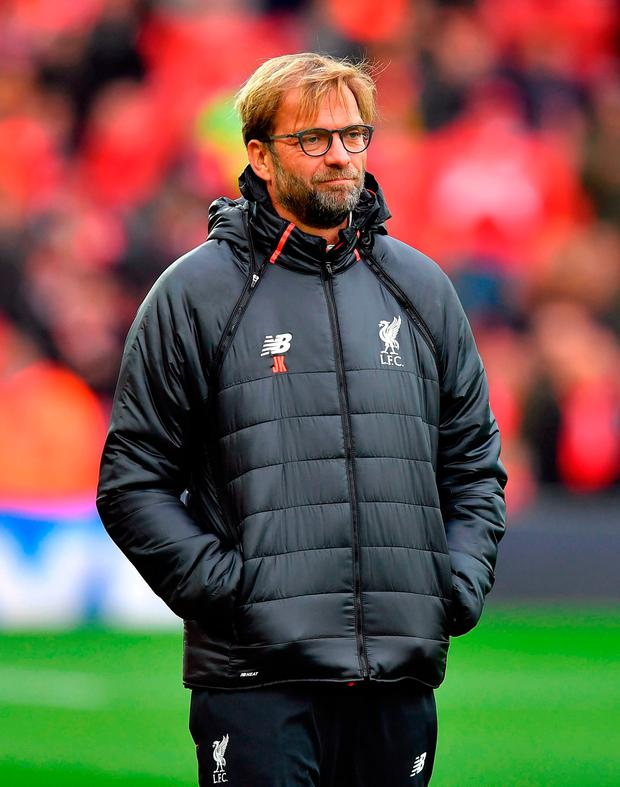Liverpool manager Jurgen Klopp. Photo credit: Dave Howarth/PA Wire