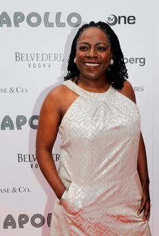 Singer Sharon Jones arrives at the 2010 Apollo Theater Spring Benefit Concert & Awards Ceremony in New York, U.S. on June 14, 2010. REUTERS/Natalie Behring/File Photo
