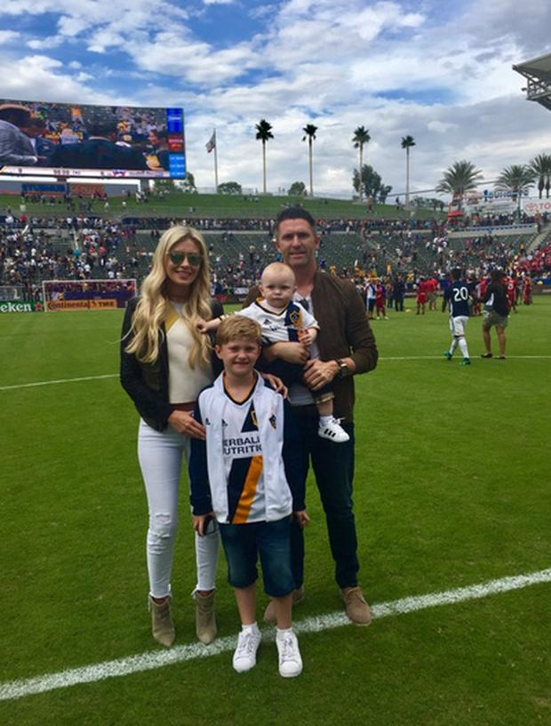 Claudine and Robbie Keane with sons Robert Jr and Hudson