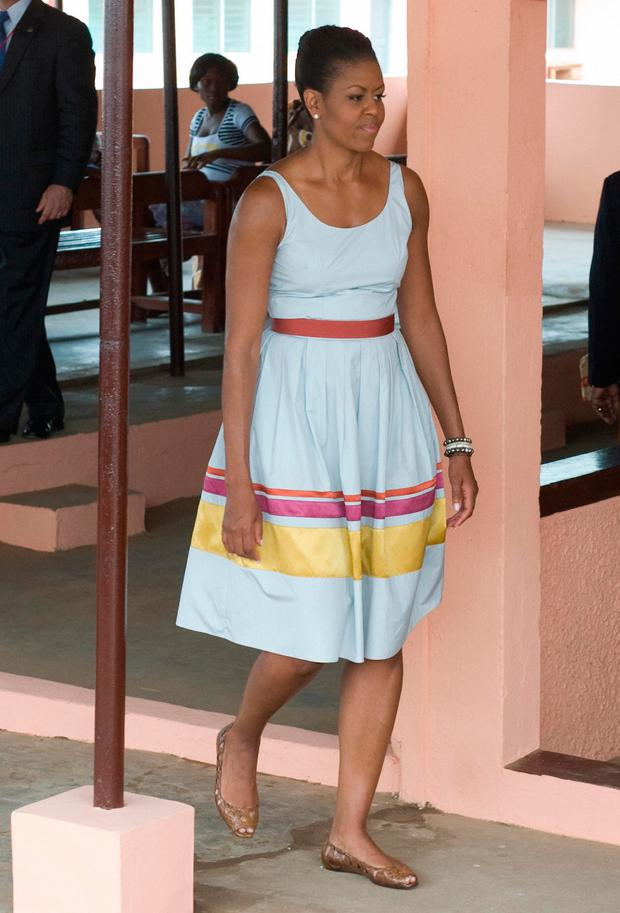 US First Lady Michelle Obama in Sophie Theallet in 2009