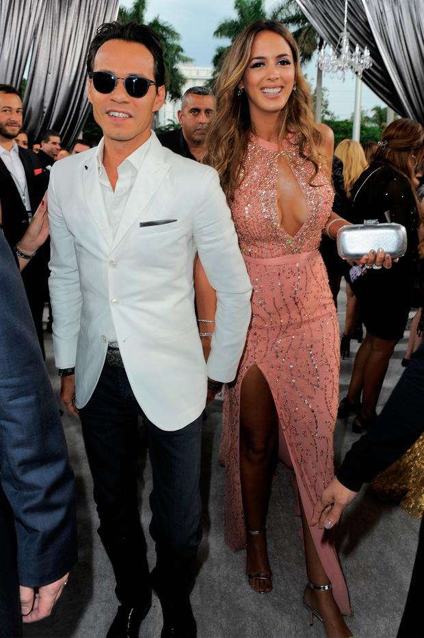 Marc Anthony and Shannon De Lima attend the 2015 Billboard Latin Music Awards