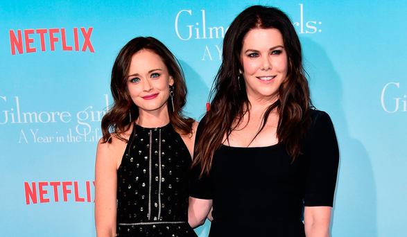 Actors Alexis Bledel and Lauren Graham attend the premiere of Netflix's