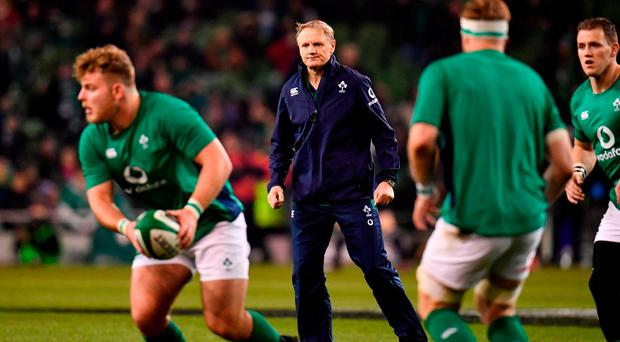 Ireland head coach Joe Schmidt ahead of the Autumn International match between Ireland and New Zealand at the Aviva Stadium in Dublin. Photo by Ramsey Cardy/Sportsfile