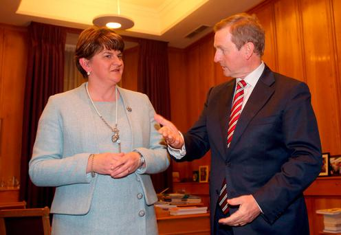 FROSTY RECEPTION: North First Minister Arlene Foster gave a chilly response to Enda Kenny's remarks about Brexit. Photo: Brian Lawless/PA Wire