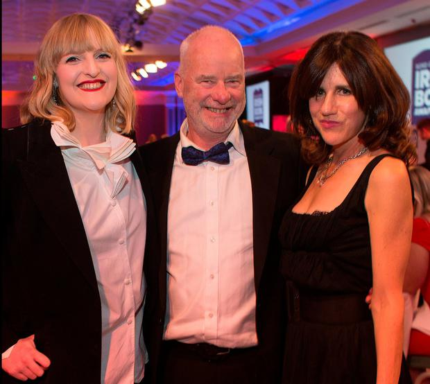 Liam Collins with Sophie White and Emily Hourican at the 11th annual Bord Gais Energy Book Awards. Photo: David Conachy