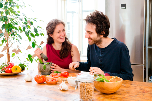 Sabine Hobbel and her husband Nico Olivieri: 'We didn't want to be slowed down by how our digestive system felt.' Photo: Joleen Cronin