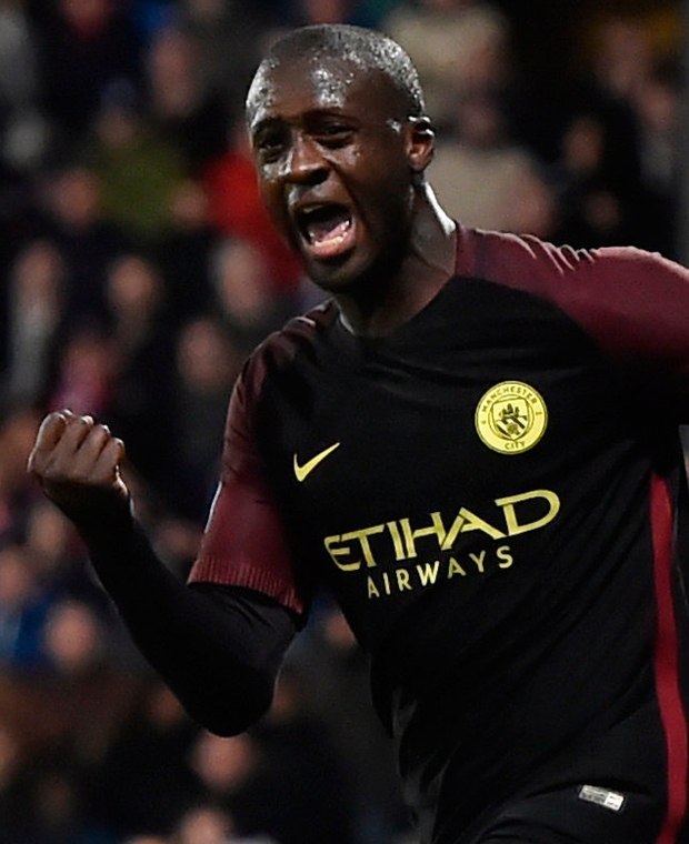 Manchester City's Yaya Toure celebrates scoring the deciding goal against Crystal Palace/ Photo: Hannah McKay/Reuters