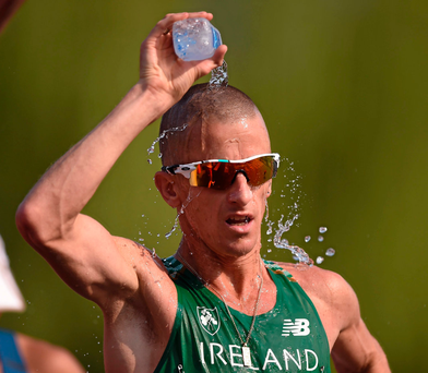 Rob Heffernan's first book 'Walking Tall: The Autobiography of a World Champion and Olympic Medallist', has just been published. Photo: Sportsfile