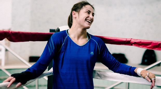 Katie Taylor can feel herself getting stronger under the watchful eye of coach Ross Enamait. Photo: Alex Wallace