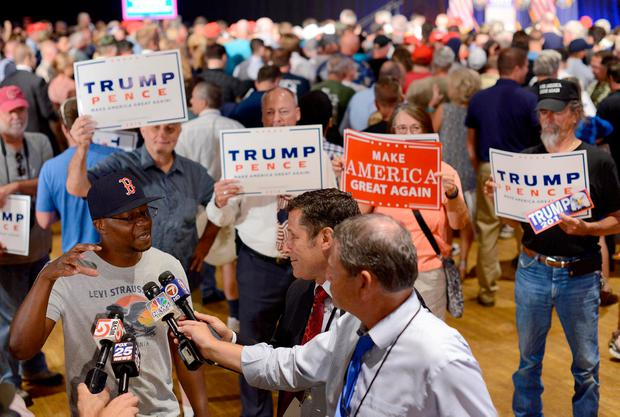 The US media has reported on Trump almost unceasingly over the past year. Photo: Getty