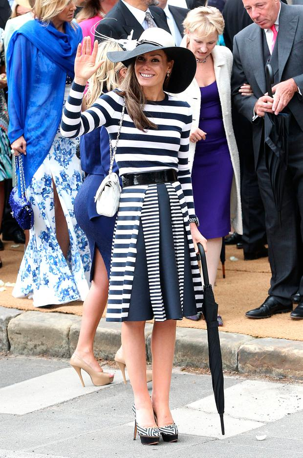 Tara Palmer-Tomkinson attends the wedding of Melissa Percy and Thomas van Straubenzee at Alnwick Castle on June 22, 2013 in Alnwick, England. (Photo by Danny E. Martindale/Getty Images)