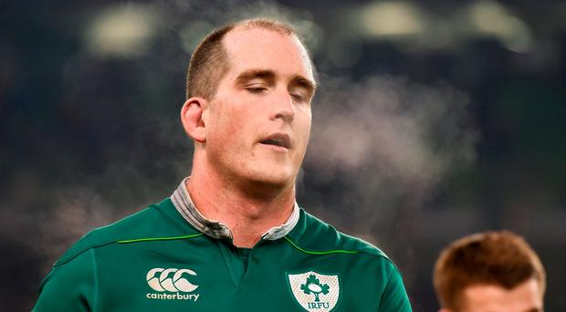 Devin Toner of Ireland following the Autumn International match between Ireland and New Zealand at the Aviva Stadium, Lansdowne Road, in Dublin. Photo by Stephen McCarthy/Sportsfile