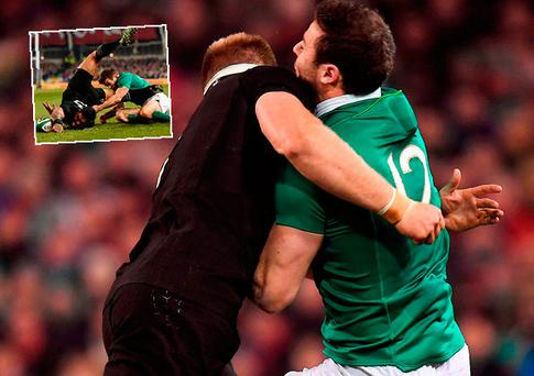 Robbie Henshaw ruled out as Ireland criticise officiating of New Zealand game