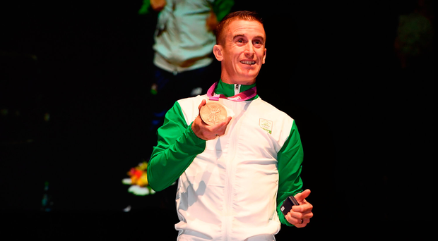 Rob Heffernan after finally getting the Olympic medal he deserves. Photo by Stephen McCarthy/Sportsfile