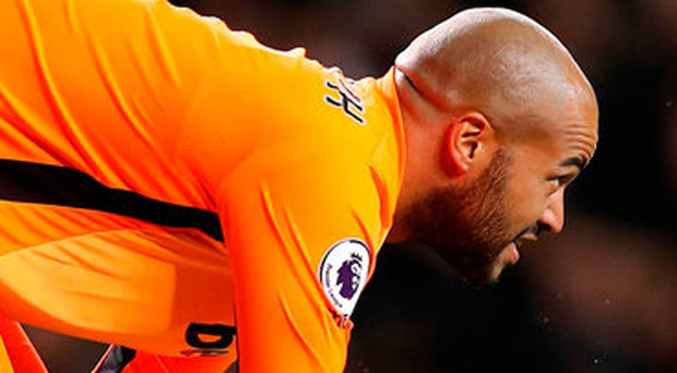 Randolph was all at sea for the second leveller in the 89th minute. Photo credit: Andrew Matthews/PA Wire