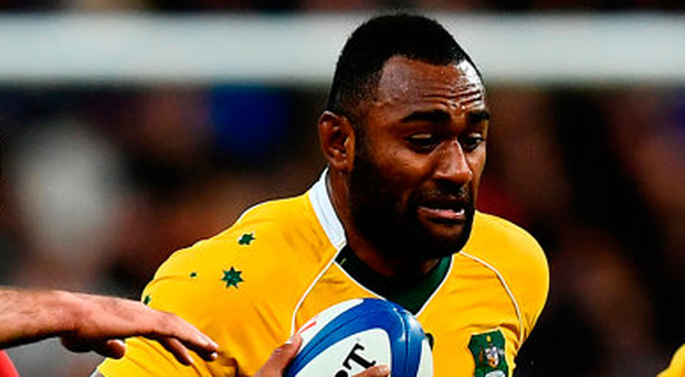 Australia's Tevita Kuridrani scored a stunning try at the Stade de France. (Photo by Dan Mullan/Getty Images)