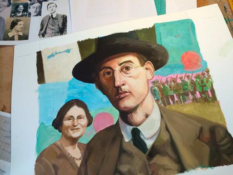 The portraits, painted in oils, feature revolutionaries such as James Connolly, the Countess Markievicz and Thomas MacDonagh