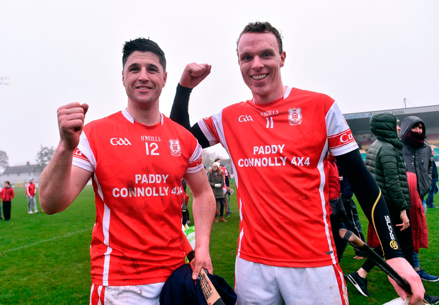 David Treacy, left, and Colm Cronin celebrate their victory. Photo: David Maher/Sportsfile